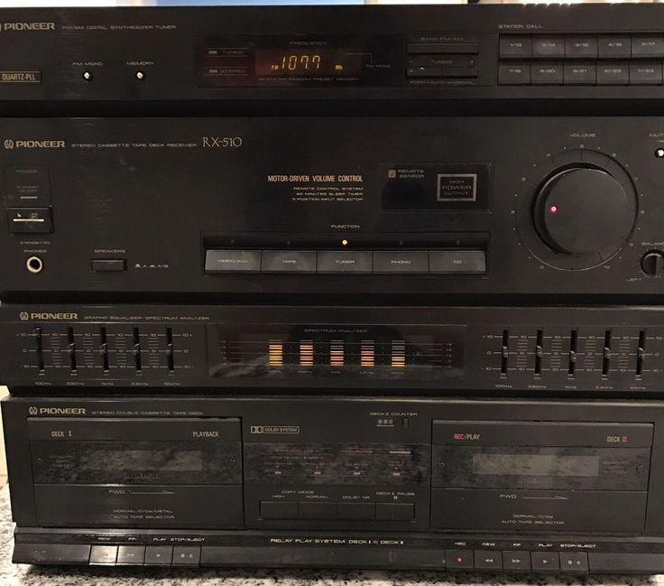 Pioneer Stereo Cassette Tape Deck Receiver Model RX-510