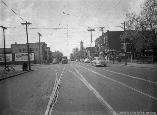 Homicide involontaire à l'intersection du boulevard Rosemont et de l'avenue De Lorimier. - 12 mai 1949. VM95-Y-1-1-3-D11. Archives de la Ville de Montréal.