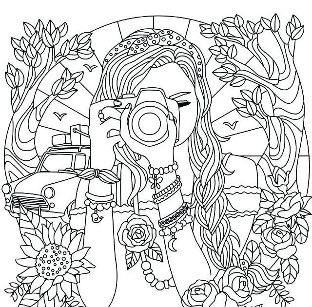 Coloring Pages For Girls Pdf At Getdrawings Free Download Coloring Pages Free Printa Detailed Coloring Pages Cute Coloring Pages Coloring Pages For Teenagers