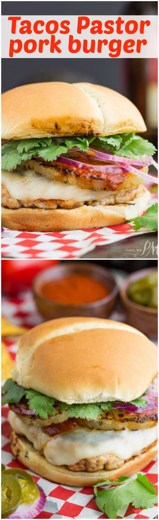 My Tacos Pastor Pork Burger has the same flavors and spices as this the popular Mexican street food Tacos el Pastor. Enter giveaway on site! http://www.callmepmc.com/tacos-pastor-pork-burger/