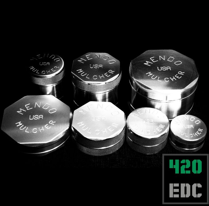 #og #grinder @mendomulchers #lifetimewarranty #mendomulcher  All of these are available in our webshop. #linkinbio   Back row are 4 piece with screens. Foreground are 2 piece.   #cannabis #medicalcannabis #vapeon #vapelife #vapecommunity #vapenation #vapor #vapenation #mendo #emeraldtriangle #mendocino #americanmade  #vape #fuckcombustion