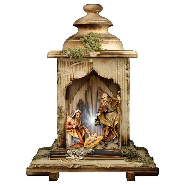 #szopka bożonarodzeniowa Ulrich - zestaw 5 figurek drewnianych do szopki z światłem