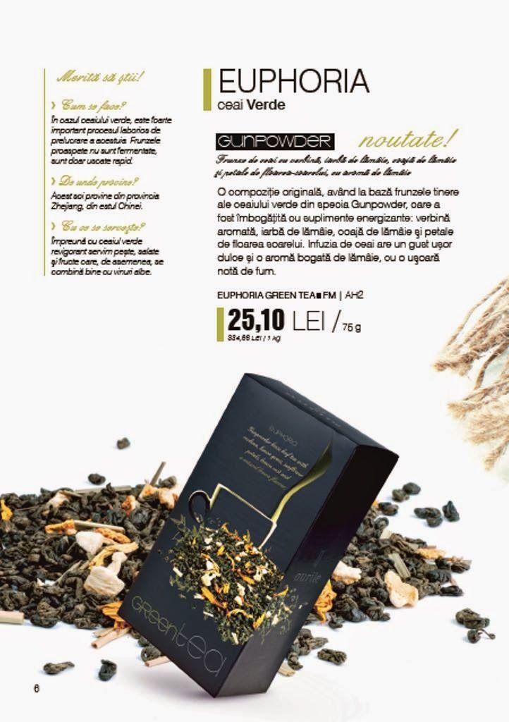 Afacerea FM Group: NOU 2014 - Ceai verde EUPHORIA