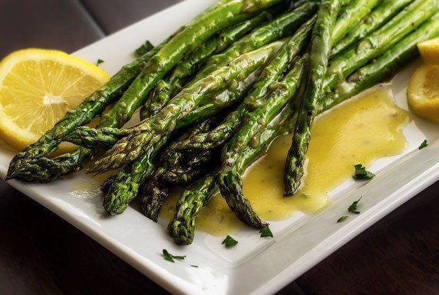 Roasted Asparagus with Lemon Vinaigrette   Paleo Newbie