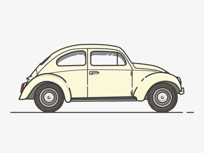 Creative Cartoon Classic Car Side View Cartoon Clipart Car