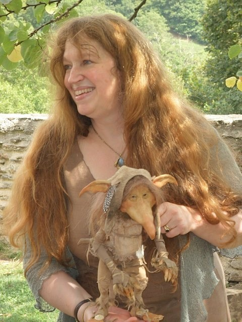 Wendy Froud and one of her dolls