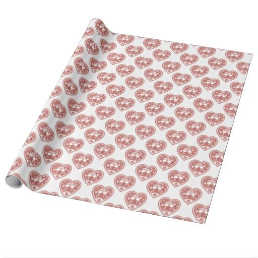 Textured Heart Flamingo Love Pattern / Gift Wrap Paper #fomadesign