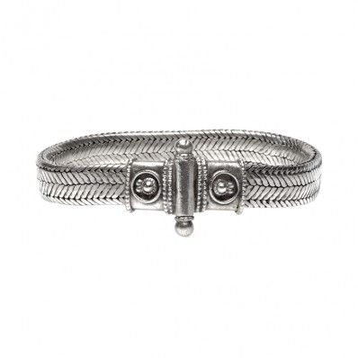 Man Snake Silver Bracelet - Bracciale Uomo Snake Argento