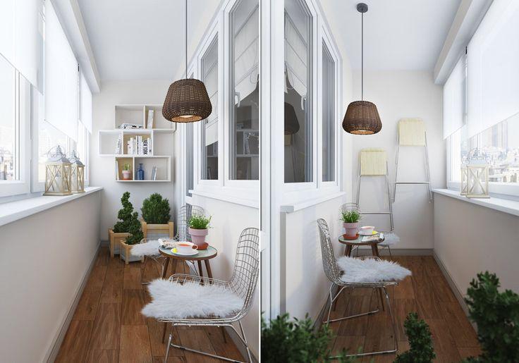 Как создать интерьер с обложки: уютная зона отдыха на балконе | Свежие идеи дизайна интерьеров, декора, архитектуры на InMyRoom.ru
