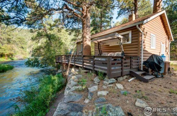 1920s Tiny Log Cabin in Drake Colorado 528 sq ft. 2 bedroom 1 bath
