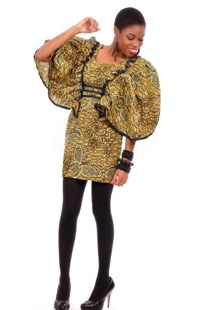 Afrika Kıyafetleri: Creative Big Sleeve Ankara Stilleri - Debonke House Of Fashion