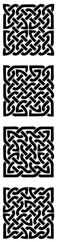 Anachropsy - Calligraphie latine par Benoit Furet - Nœuds carrés