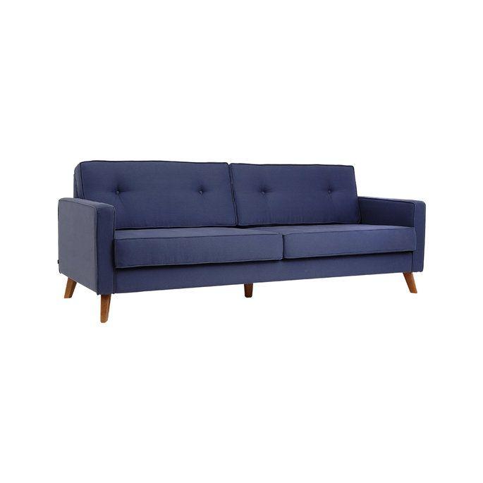 Sofá Quadrata - Azul - 3 lugares