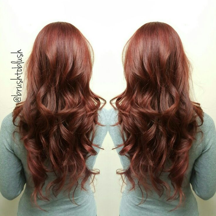 Schwarzkopf color, equal parts of 6-77 & 6-88. Red/Copper Long hair  Red hair Layered haircut