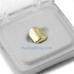 HipHopBling.com's Gold Single Tooth Cap Grillz are hot. #hiphop, #hiphopjewelry, #hiphopmusic, #hiphopbling, #hiphopfashion, #hiphopearrings, #goldjewelry, #jewelry, #diamondjewelry, #ladiesjewelry, #grillz, #goldgrillz, #realdiamonds, #diamonds,