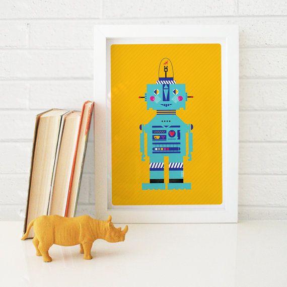 Robot Print // Kids Room Wall Art // Modern by TimiOriginalDesign, $18.00