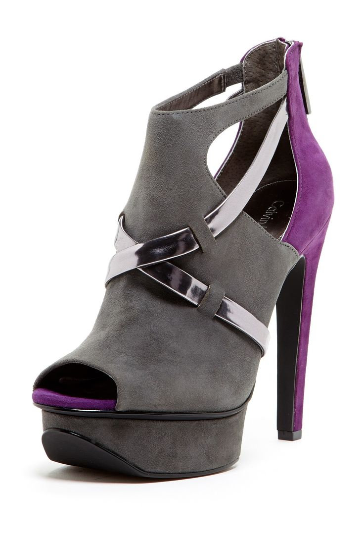 Karine Side Cut-Out Platform Bootie