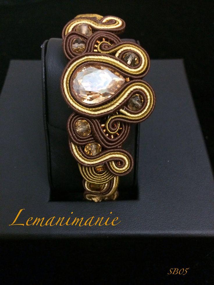 #bracciale #soutache #marrone, by Lemanimanie, 35,00 € su misshobby.com
