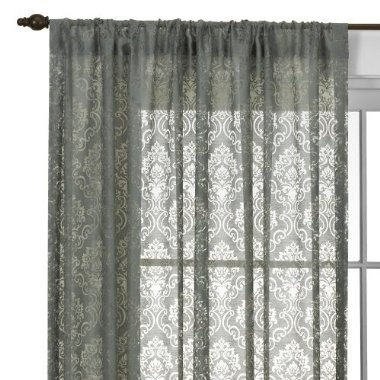 gray curtains from Target