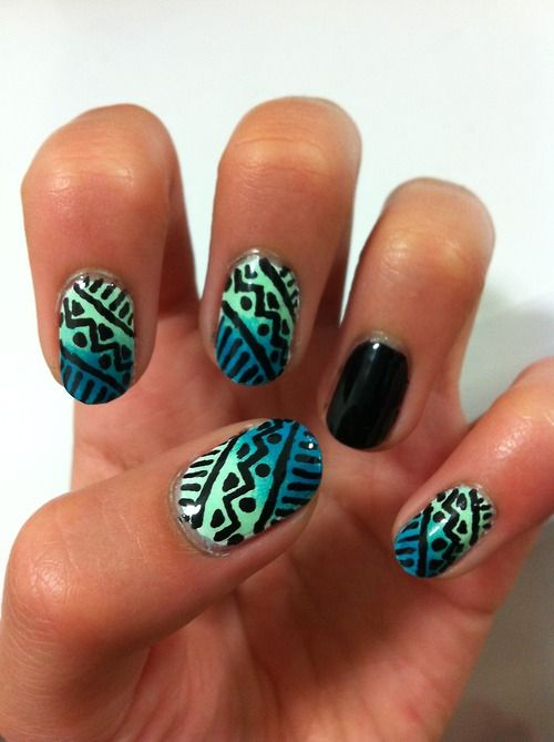 tribal nails.