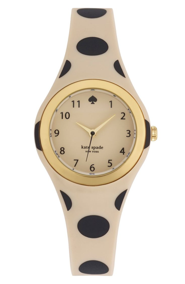Such an adorable Kate Spade watch. Love the polka dots!