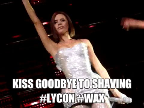 Kiss goodbye to shaving with LYCON Precision Waxing. via GIPHY. Happy LYCON Waxing! #VictoriaBeckham #Wax #Lycon #Kiss #Spa #Esthetics