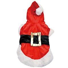 honden+Jurken+Rood+Hondenkleding+Winter+/+Lente/Herfst+Klassiek+/+Kerstmis+Bruiloft+/+Vakantie+/+Modieus+/+Kerstmis+/+Valentijn+Lovoyager+–+EUR+€+11.75