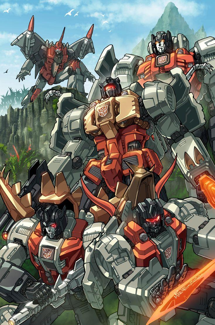 Dinobots coloured by *markerguru on deviantART - Transformers Autobot