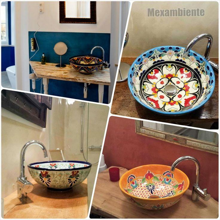 1000 images about bunte mexikanische aufsatzwaschbecken on pinterest. Black Bedroom Furniture Sets. Home Design Ideas