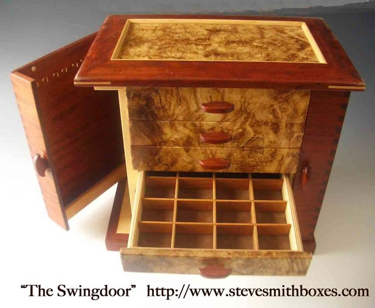 Handmade wooden jewelry boxes, keepsake boxes, and mens valet boxes; which make …  – Steve Smith Boxes