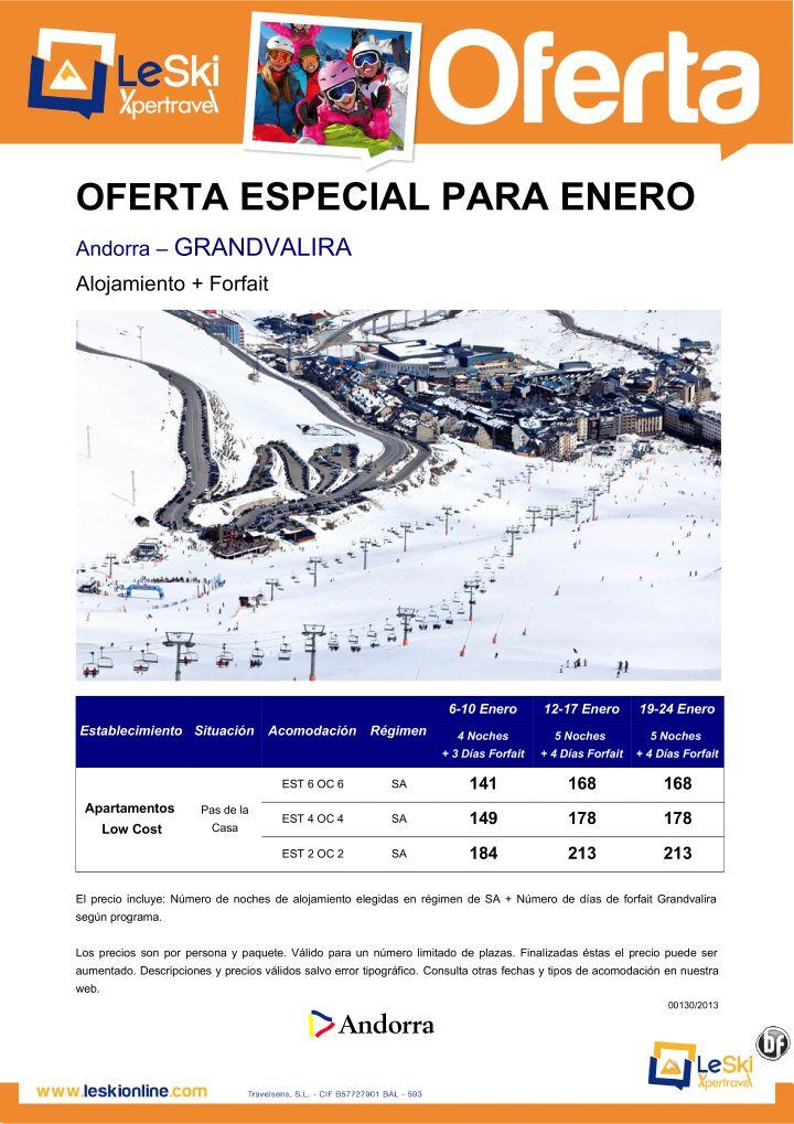 Oferta especial enero alojamiento+forfait Andorra–GRANDVALIRA desde 141€ ultimo minuto - http://zocotours.com/oferta-especial-enero-alojamientoforfait-andorra-grandvalira-desde-141e-ultimo-minuto/