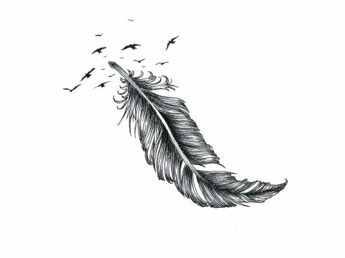 1001 Ideas Sobre Tatuajes De Plumas Con Encanto Tatuajes De Plumas Disenos De Plumas Plumas Dibujos