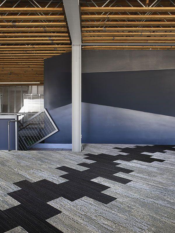 Interface   Modular Carpet Tile   Near & Far   NF400 Mineral   NF401 Linen