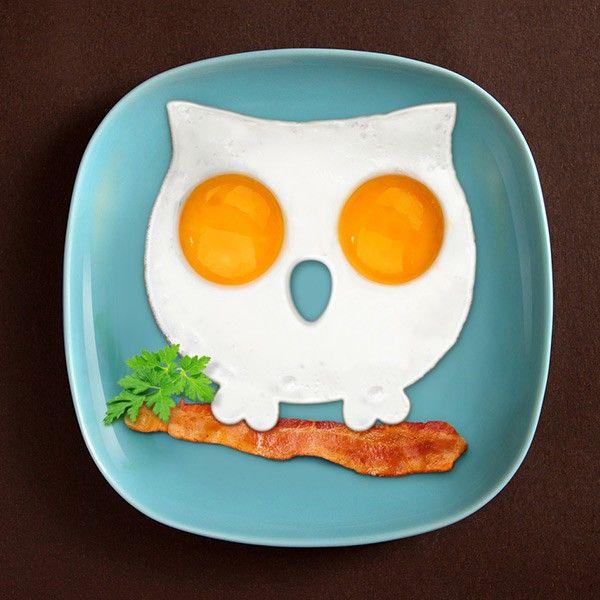 Foremka do jajek w kształcie sowy sprawi, że każde śniadanie będzie wyjątkowe. Zmień nudne posiłki w coś oryginalne, coś co przyciągnie do stołu nawet największego niejadka.