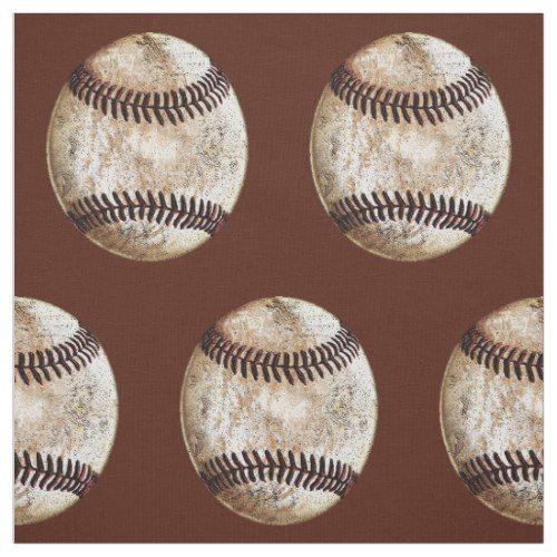 Customizable Vintage Baseball Fabric, YOUR COLORS Fabric