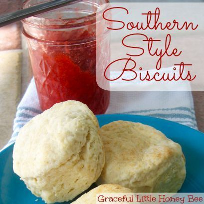 These southern style biscuits are light and fluffy just like your grandma used to make.