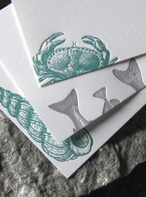 Seal Island Inspired Letterpress Stationary #OKLsummer