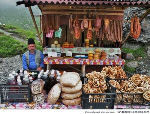 Traditional Romanian food shack