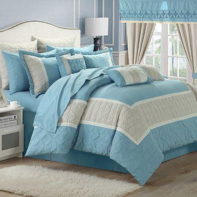 Chic Home Aida 24 Piece Queen Comforter Set   Wayfair