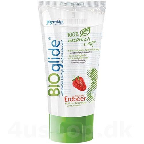 Original Bioglide glidecreme - Jordbær - 80 ml #økologi #økologisk #økologiskglidecreme #JO #BIOglide #Shunga #glidecreme #USDAcertifed #CertificationBiologique #NaturalProductStandard @4ushop