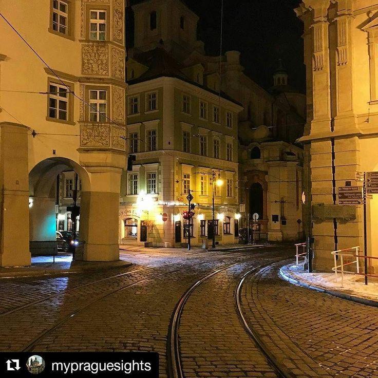 #Repost @mypraguesights in  A break in the busy #tram #traffic #travel #czech