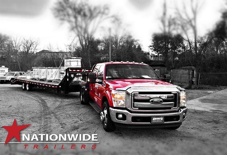 PJ Trailer Gooseneck Flatdeck with a load ready to go.