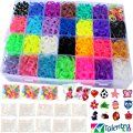 11,000pc Rainbow Rubber Bands Loom Bundle by Talented Kidz: 10,000 Premium Quality Rubber Bands in 28 Colors, 24 Charms 500 Clips 175 Beads & Organizer. Best and Largest Kit f/Making Bracelet