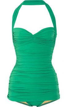 wonderfully flattering swimsuit...I am soo glad to see one peice bathing suits again.  Bring on the pretty...