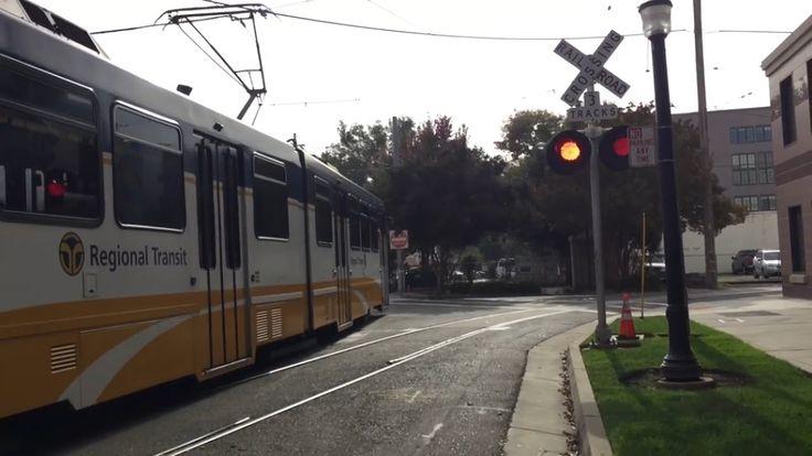 12th Street and Whittney Avenue Railroad Crossing, Sacramento Light Rail...