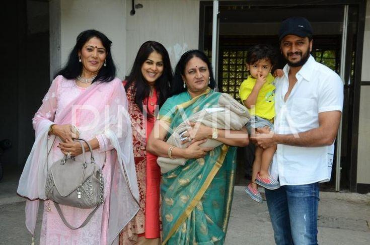 Riteish-Genelia Pose with their New Born Baby, Elder Son Riaan Looks On! | PINKVILLA