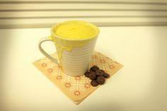 Mug cake au yogourt coeur coulant de chocolat