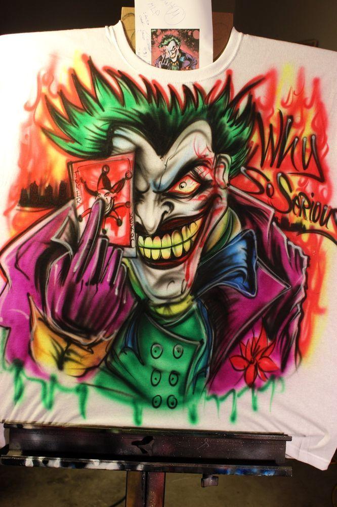Joker Shirt Airbrush Batman Dark Night Design Batman