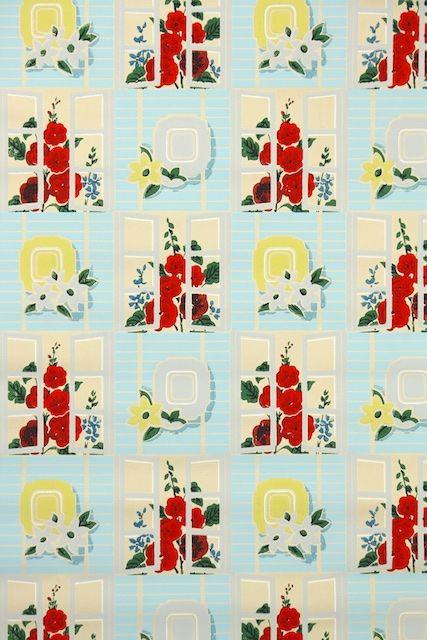 39 best images about kitchen vintage wallpaper on for Kitchen wallpaper patterns