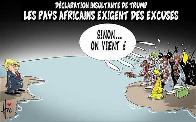 Hic (2018-01-14) USA  - Pays  africains: Donald Trump,  pays de m....